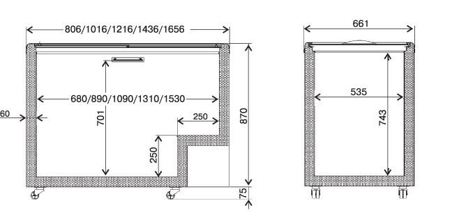 Схема - Морозильная витрина JUKA